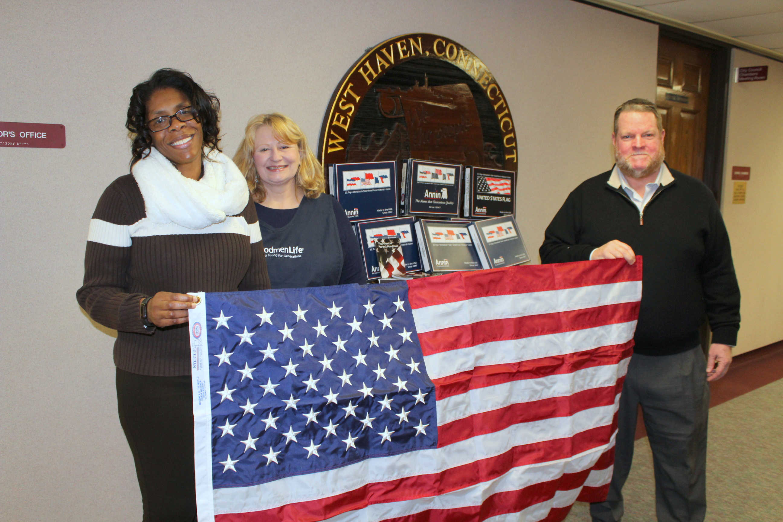 American flags donated