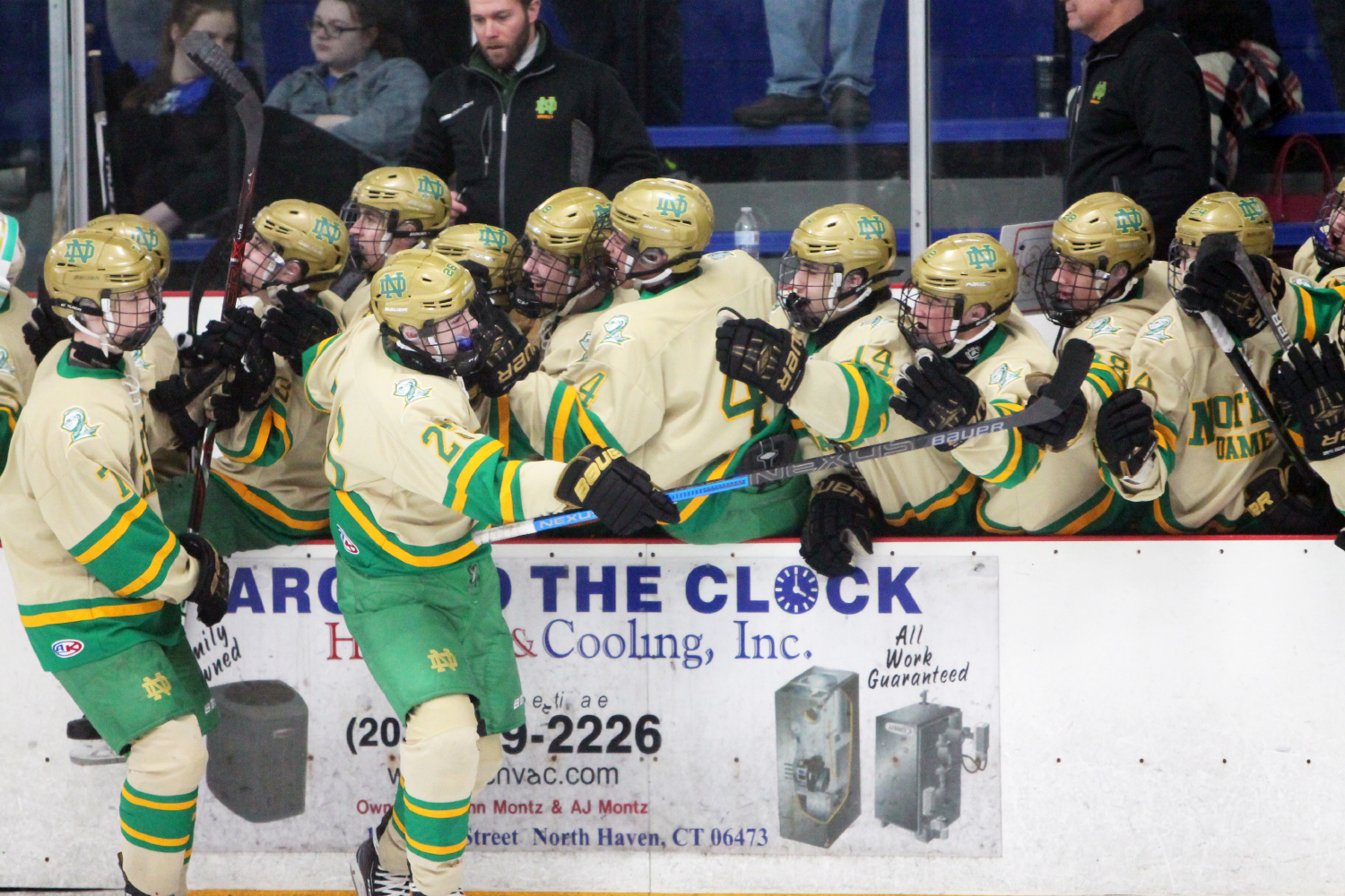ND skaters upend Darien, 3-1