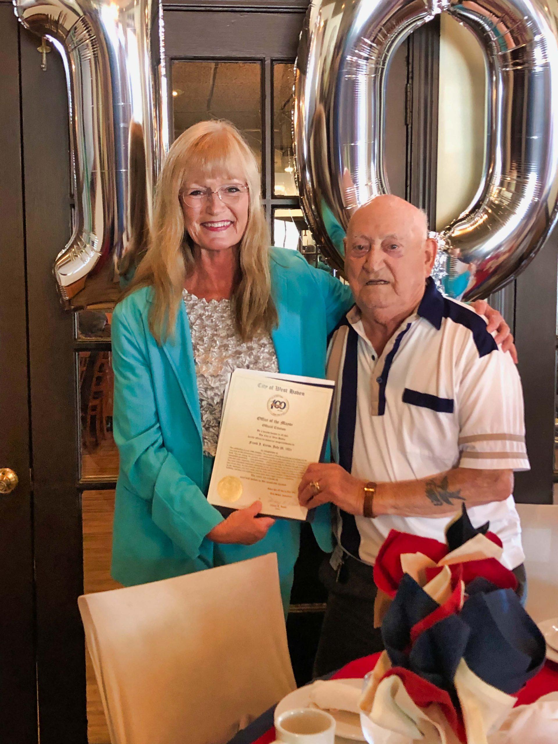 Corso marks 100th birthday