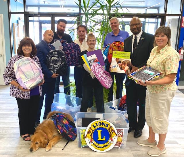 Lion's Club donates school supplies